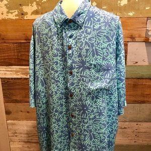 ef9cc80e Blue Ginger. Men's Hawaiian shirt